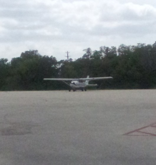 Cessna from the parking lot
